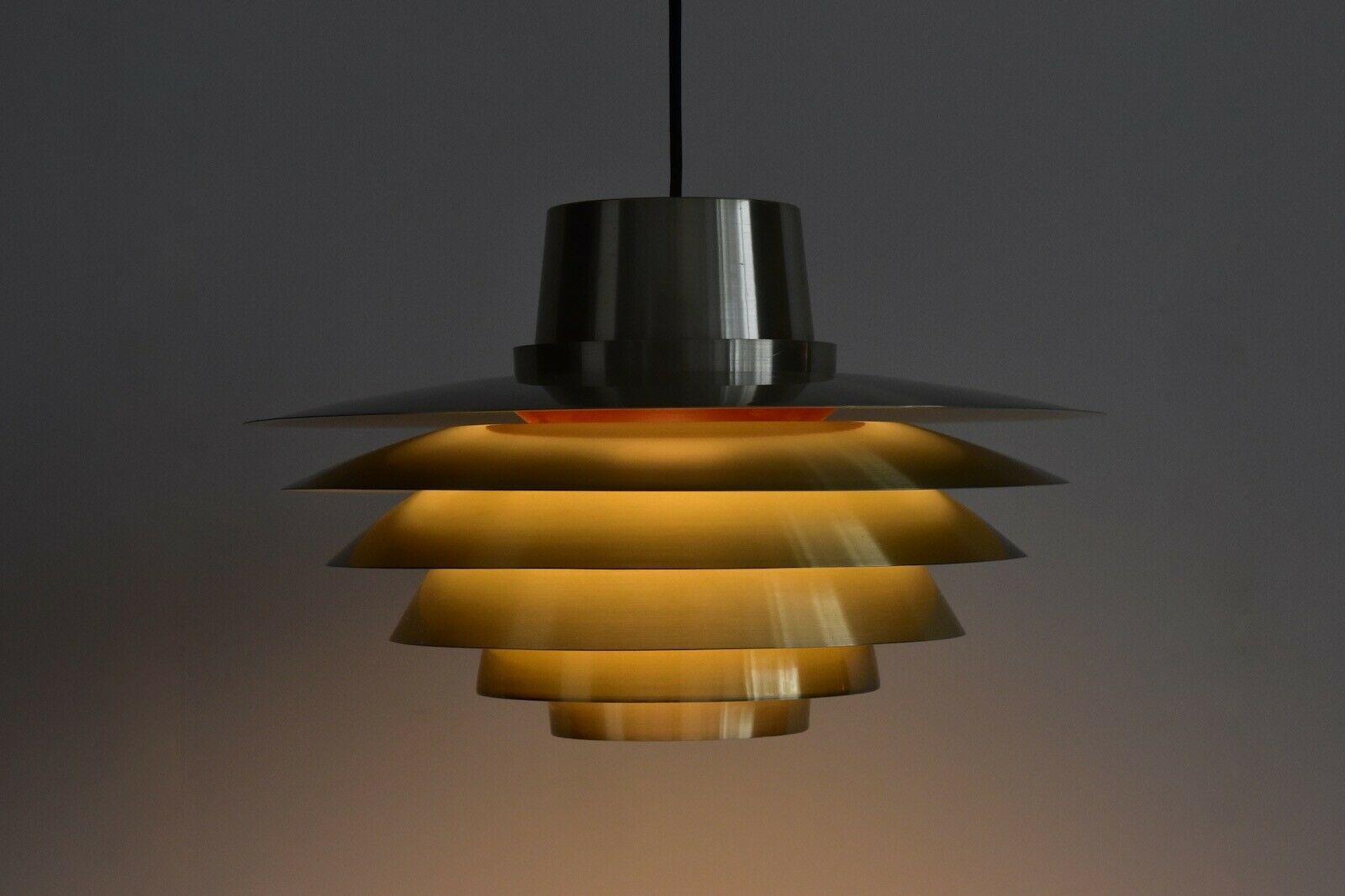 Grande Lampe  Suspension Verona en Laiton par Sven Middelboe pour Nordisk Solar 1970 en vente