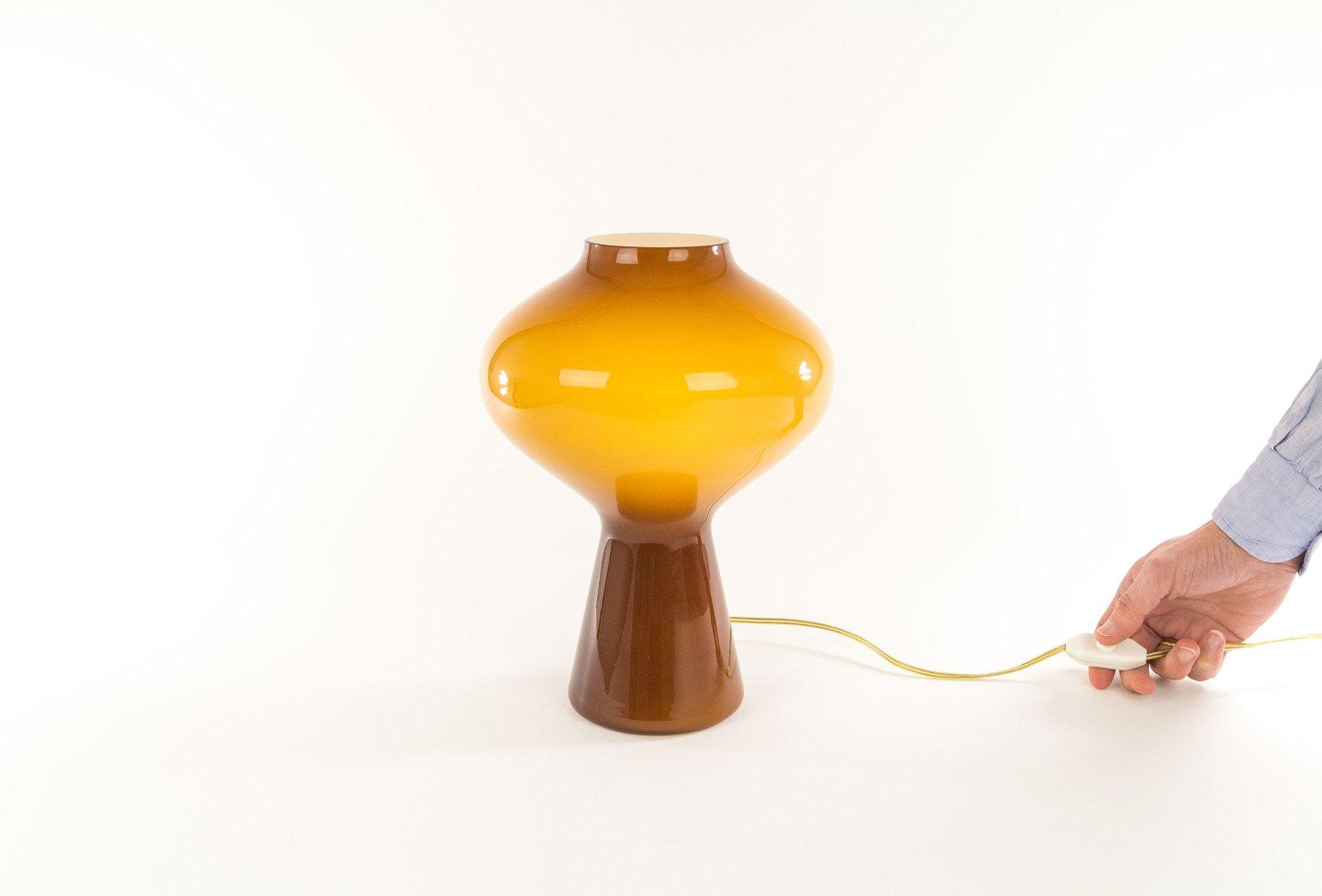 Grande Lampe de Bureau Fungo en Verre Souffl  la Main par Massimo Vignelli pour Venini 1960s