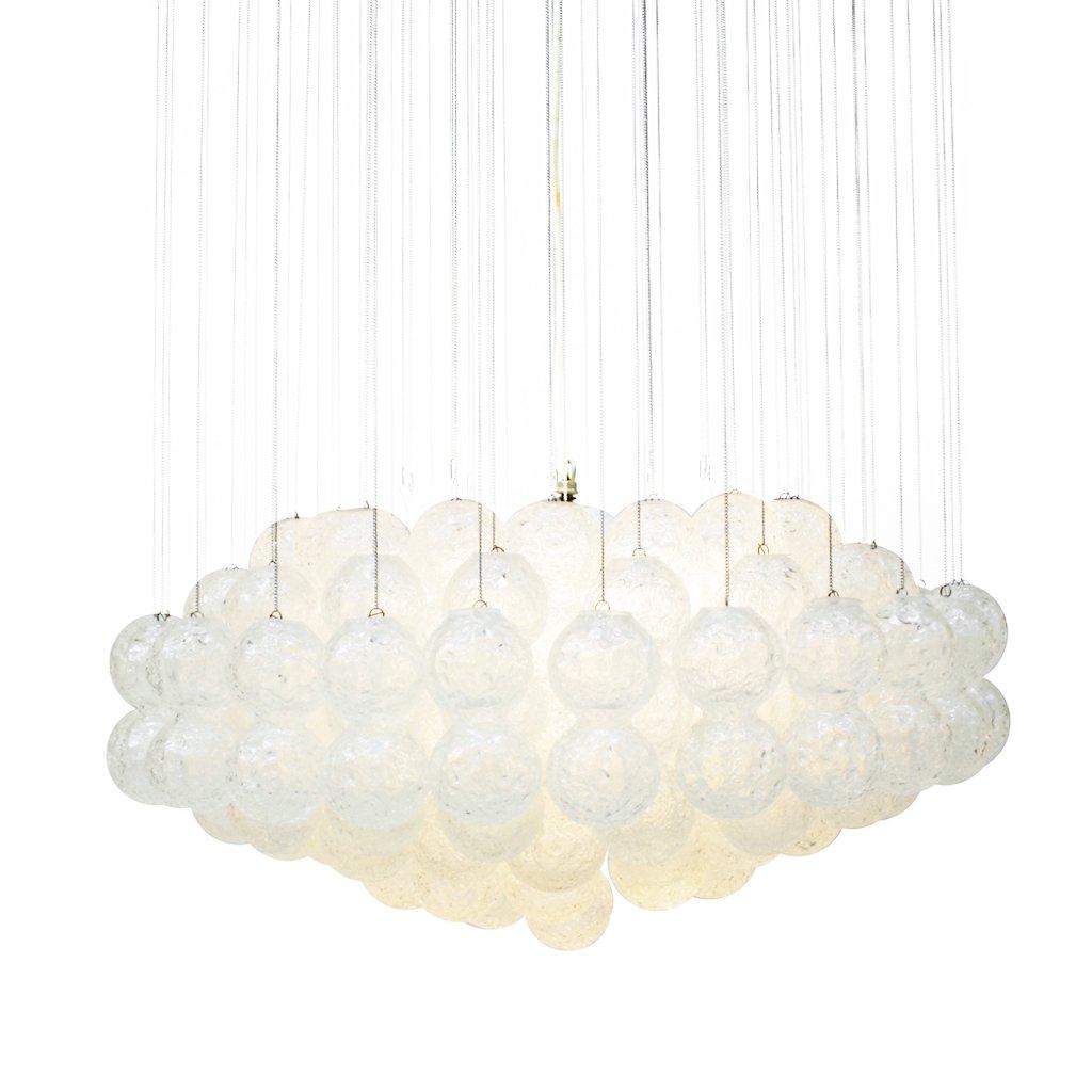 mid century modern italian glass pendant lamp from zero quattro