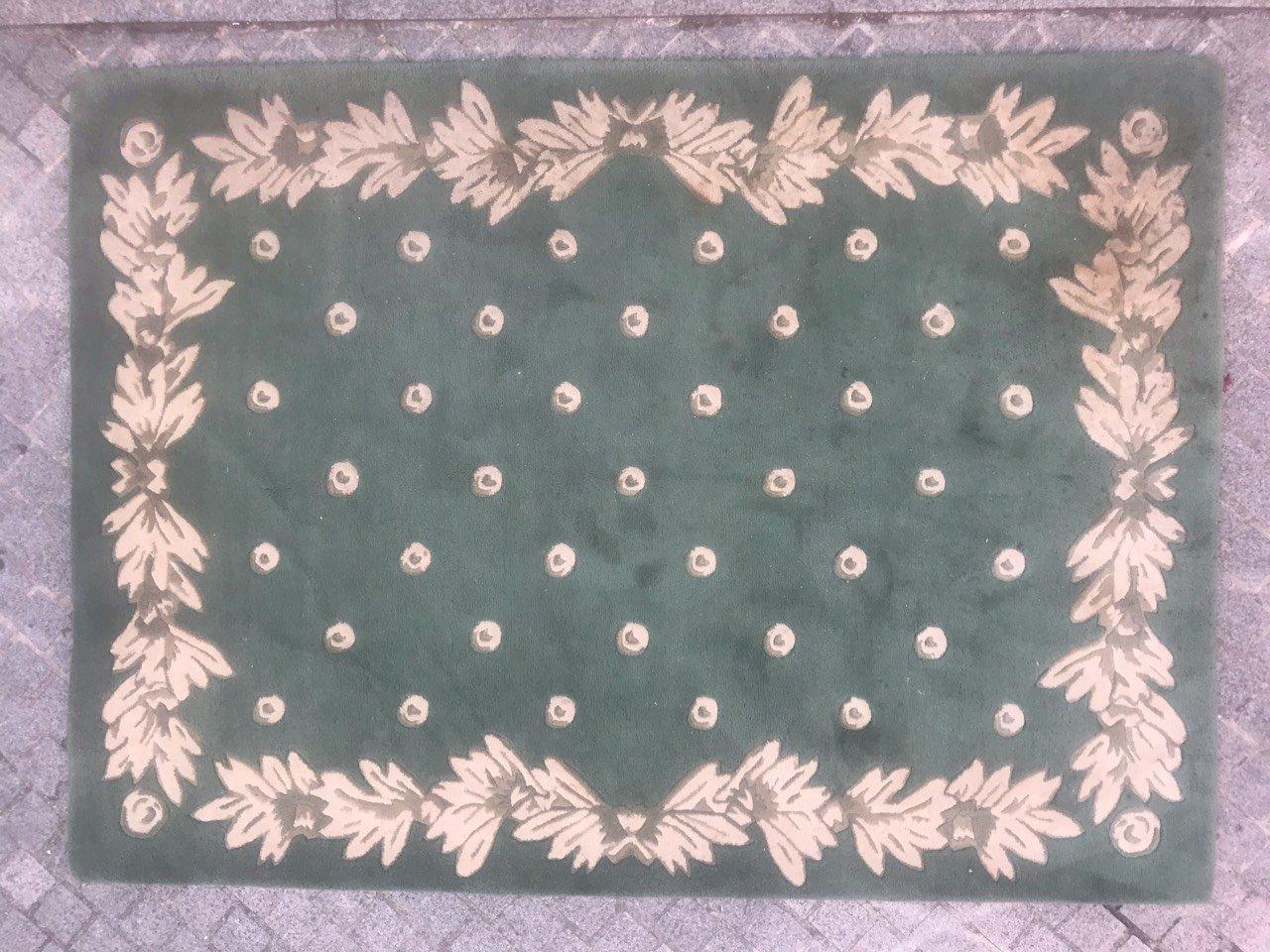 tapis fait main vintage par serge lesage 1980s