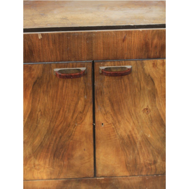 Vintage Art Deco Italian Walnut Cabinet, 1920s for sale at