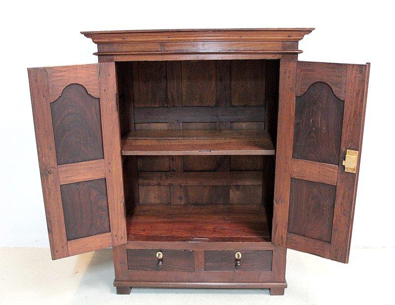 petit meuble a epices antique en palissandre et teck