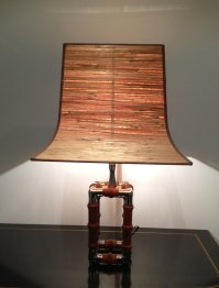 Mid Century Nickel and Wood Table Lamp, 1960s for sale at ...