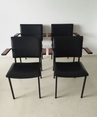 Vintage Industrial Armchairs by Gerrit Veenendaal for