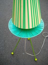 Vintage Green Tripod Lamp for sale at Pamono