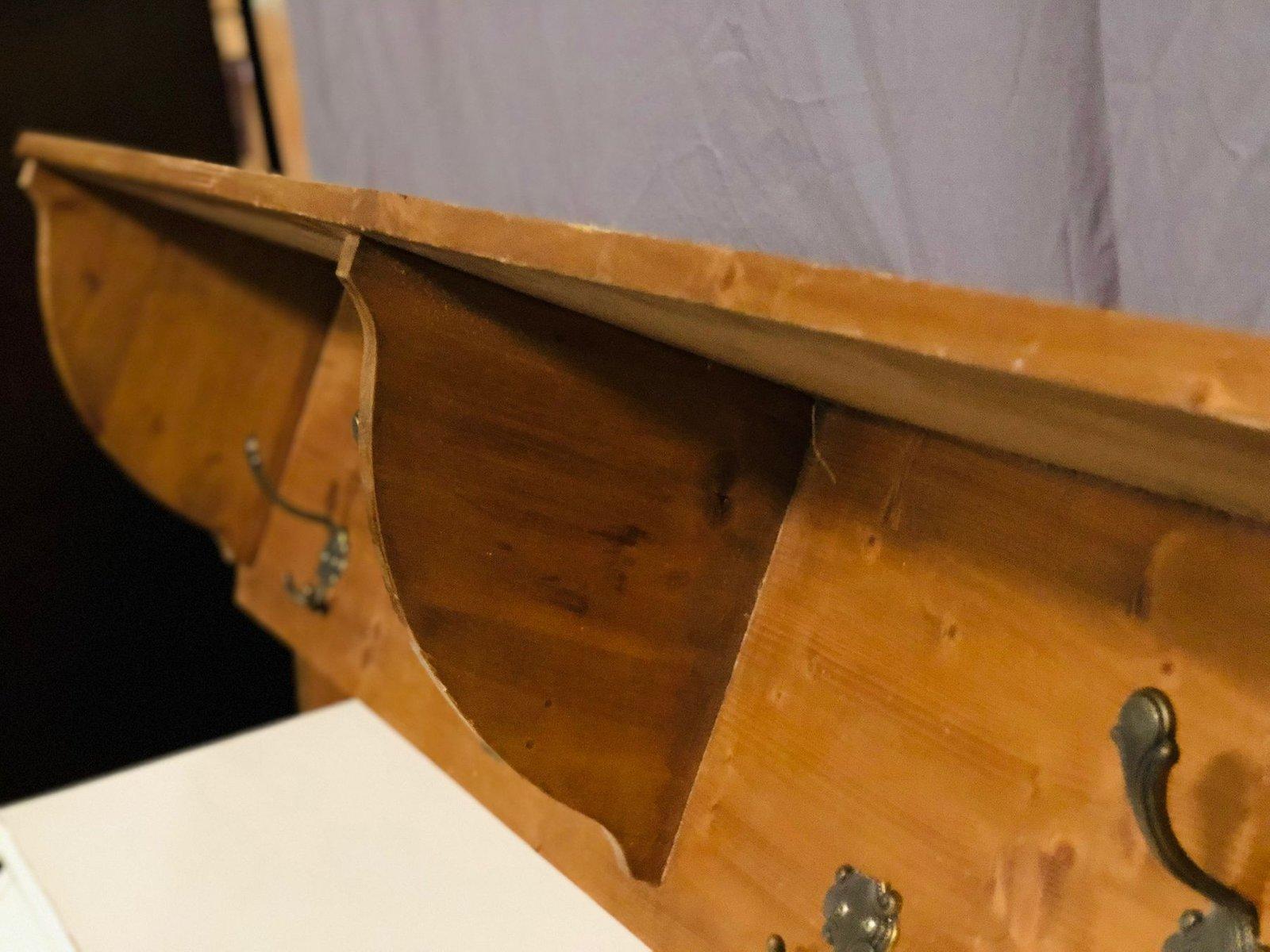 mid century rustic coat rack