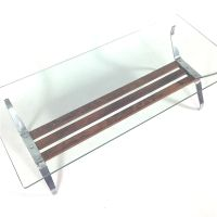 Italian Mid Century Rosewood & Glass Coffee Table for sale ...