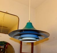 Vintage Blue Pendant Lamp, 1970s for sale at Pamono