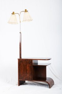 Art Deco Floor Lamp With Console for sale at Pamono