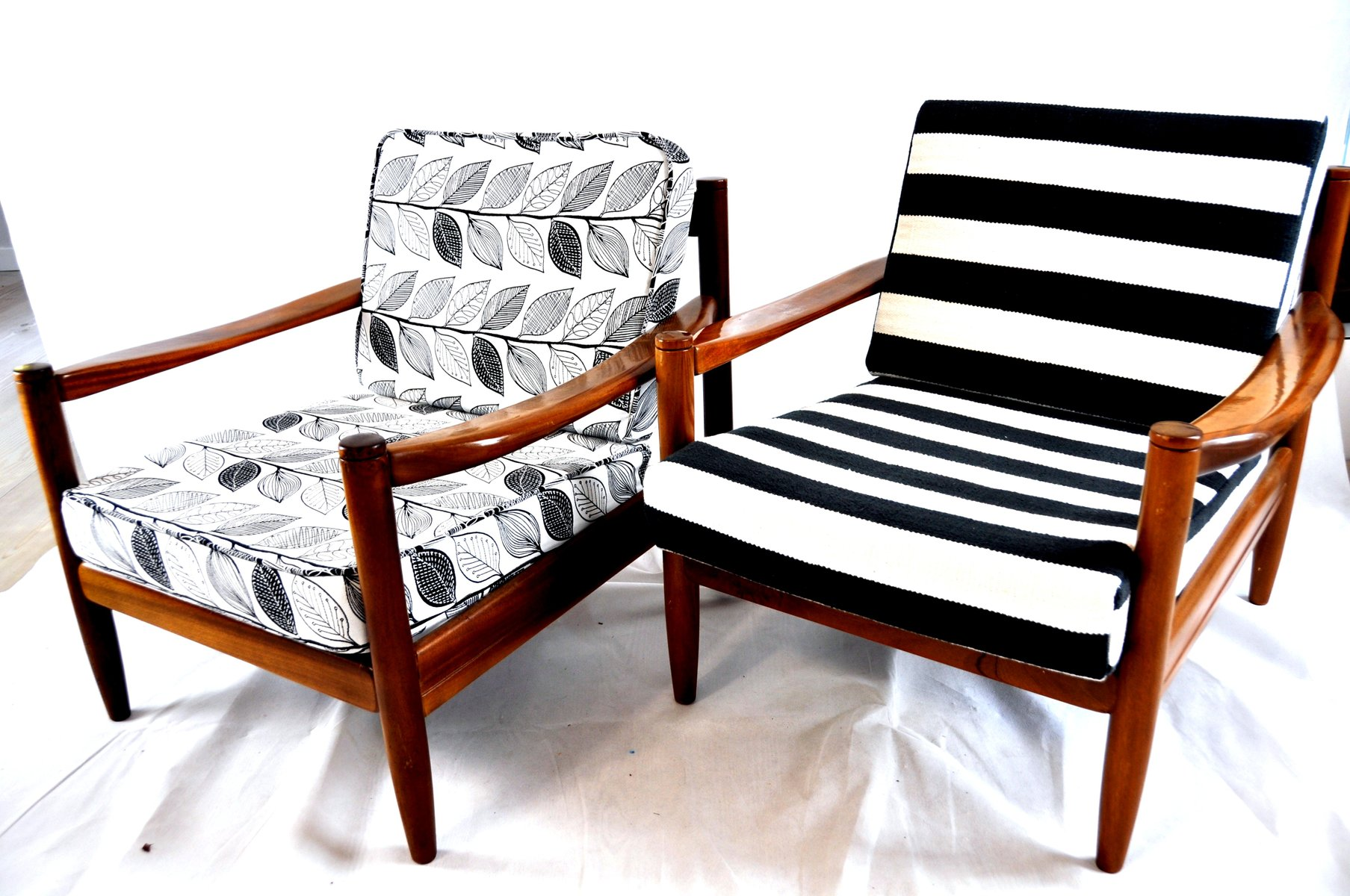 Black And White Striped Chair Black And White Striped Vintage Lounge Chair For Sale At