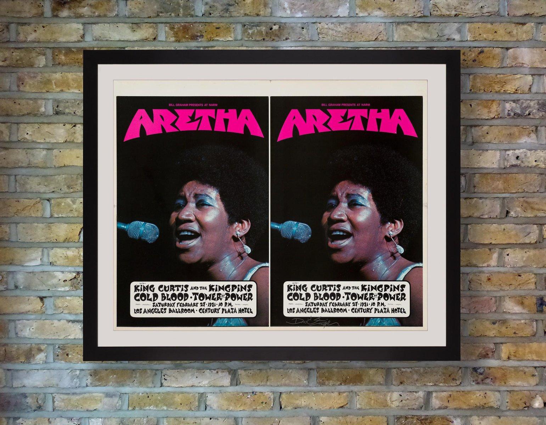 aretha franklin poster von david singer 1971
