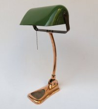 Art Nouveau Copper Plated Banker's Lamp from LUX for sale ...