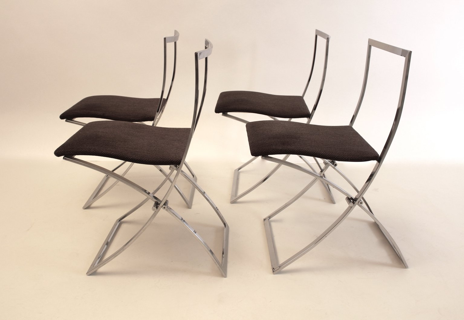 Foldable Dining Chairs Foldable Luisa Dining Chairs By Marcello Cuneo For Mobel 1970s Set Of 4
