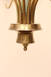 Brass Ceiling Light from Stilnovo for sale at Pamono