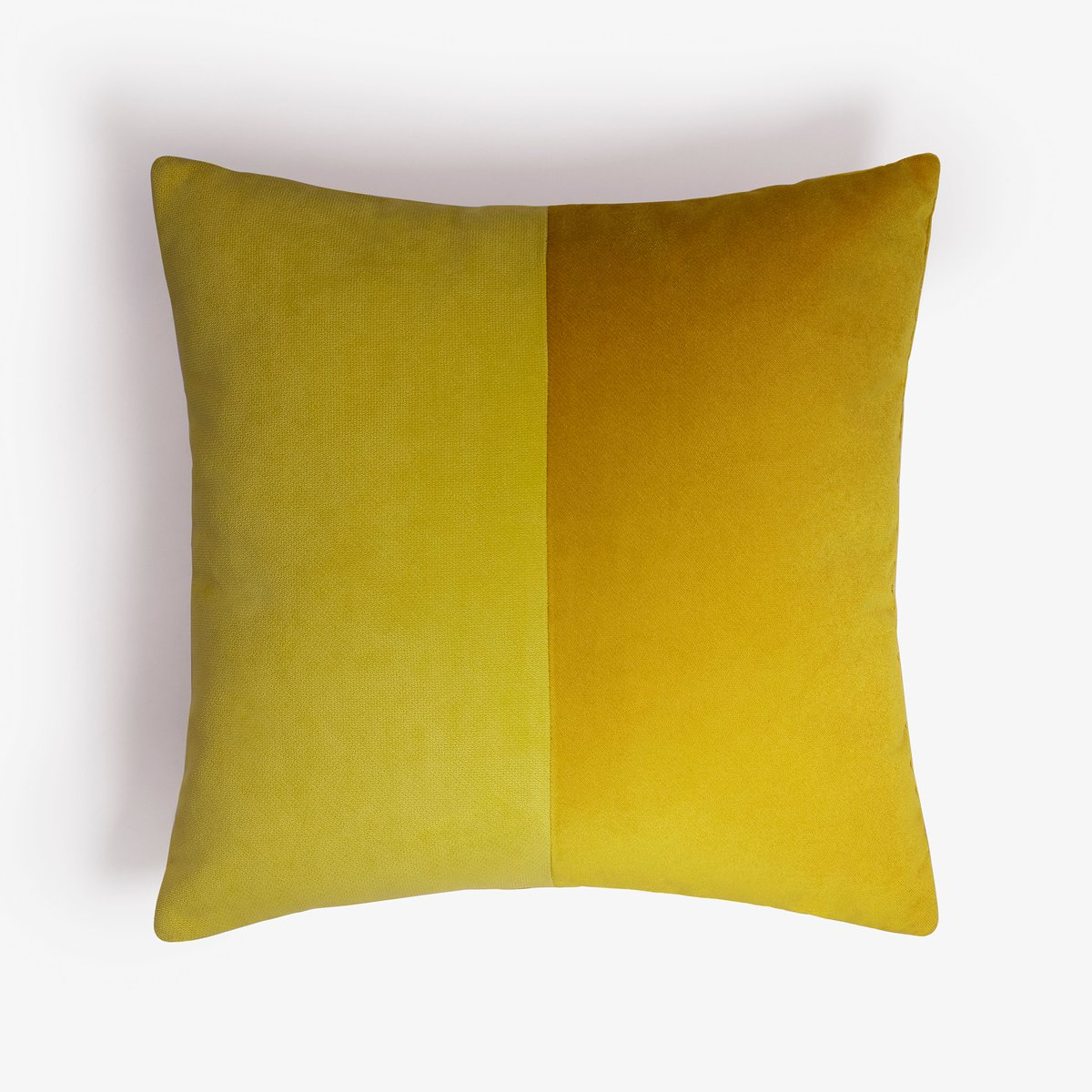 double mustard velvet cushion cover by lorenza briola