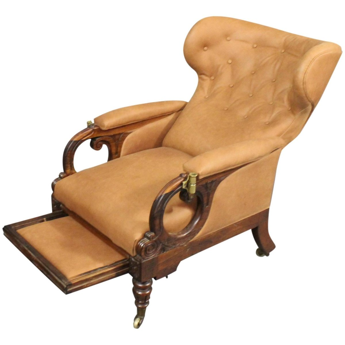 Wingback Recliner Chair William Iv Reclining Wingback Chair From George Minter 1830s