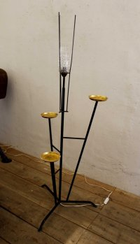 Spanish Floor Lamp with Ashtrays for sale at Pamono