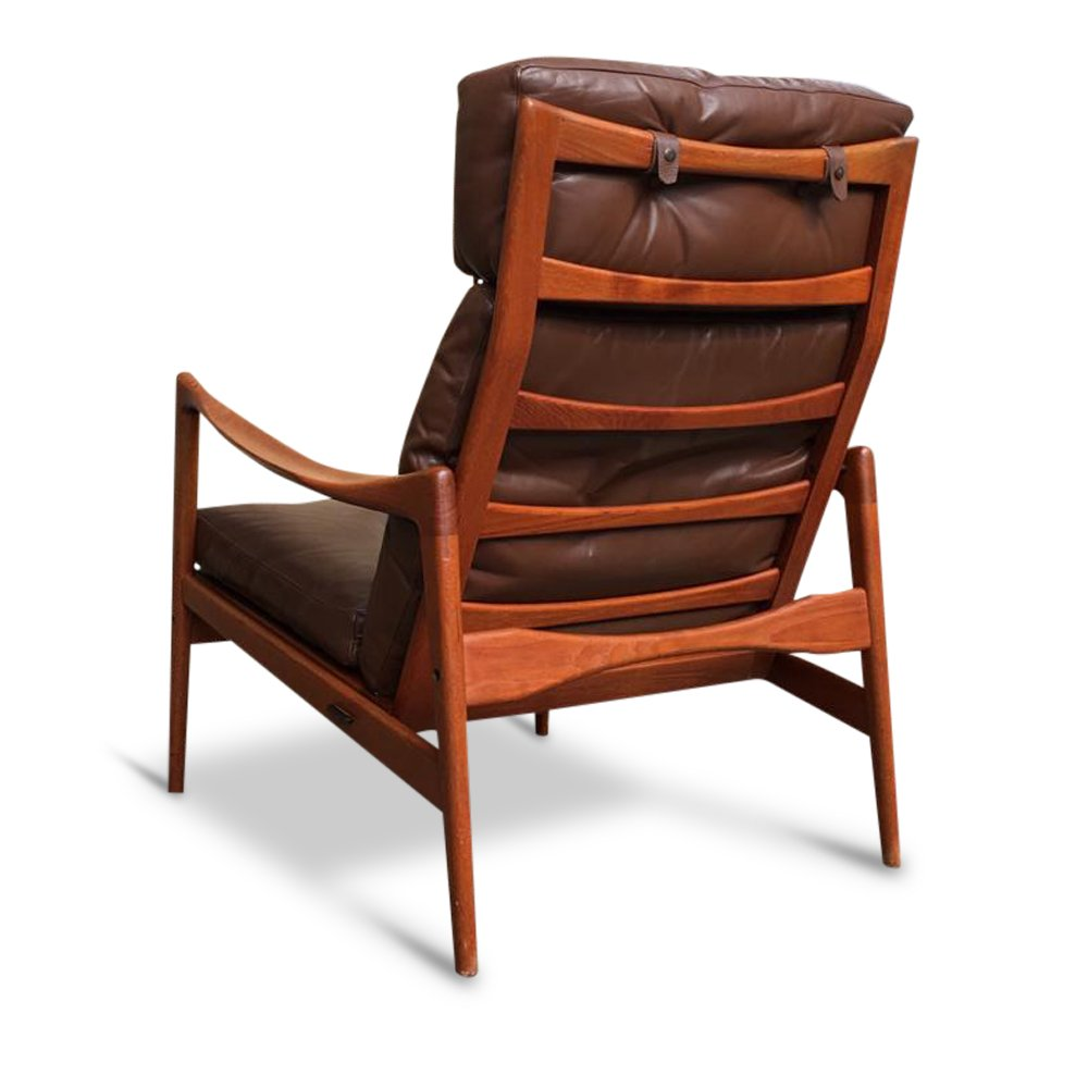MidCentury Swedish High Back Lounge Chair by Ib Kofod