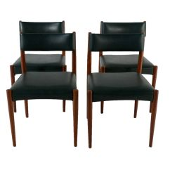 Green Dining Chairs Uk Mission Rocking Chair Leather And Wood Teak Leatherette Set Of 4 For Sale