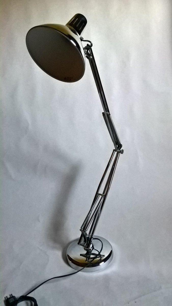 Grande Lampe avec Bras  Ressort Luxo L1 en Chrome par Jacob Jacobsen pour Naska Loris 1960s