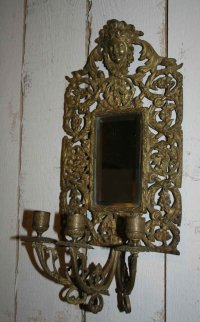 Antique Bronze Wall Mirrored Sconces, Set of 2 for sale at ...