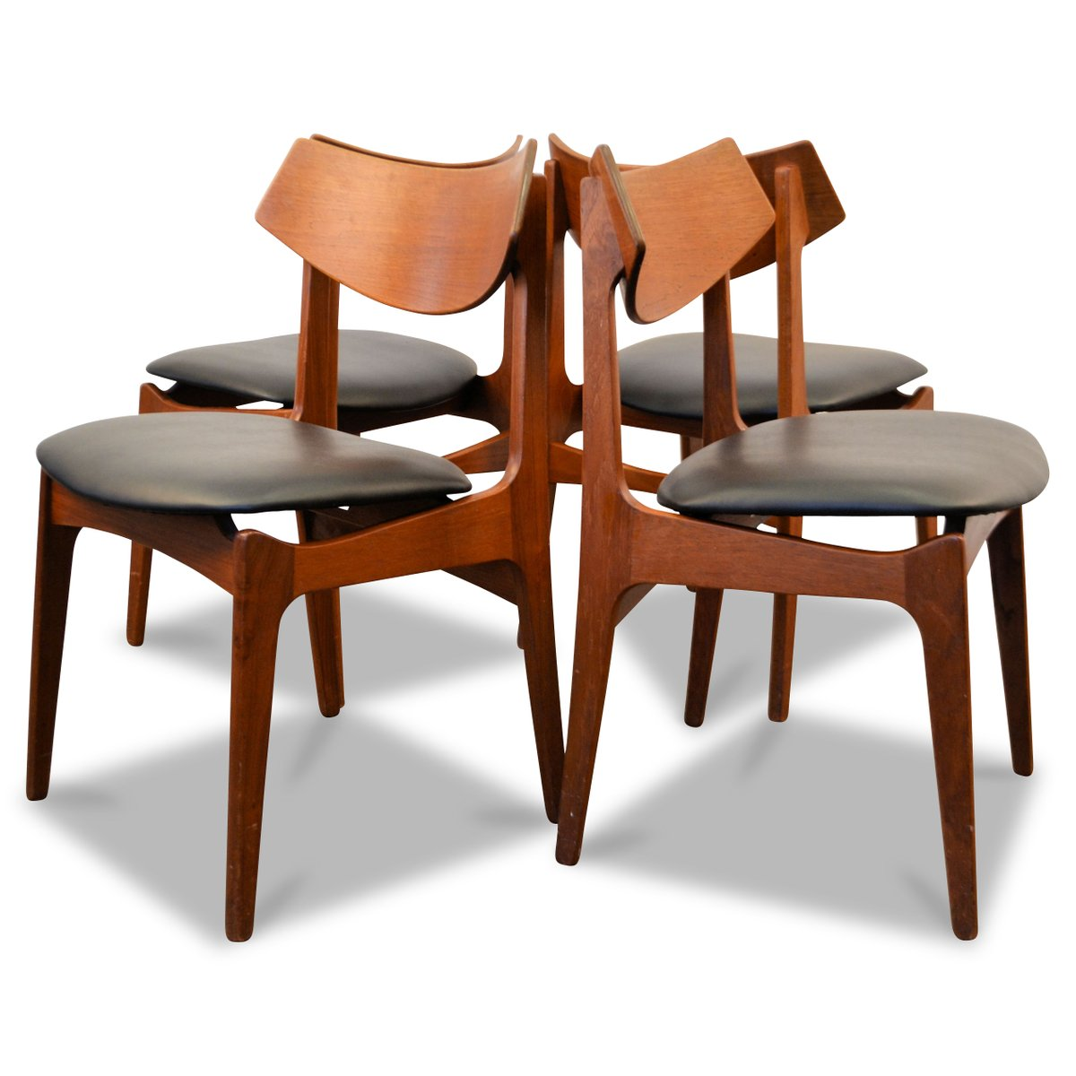 Danish Teak Dining Chairs Danish Teak Dining Chairs From Funder Schmidt And Madsen