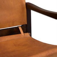 Cognac Leather Safari Chairs & Table by Karin Mobring ...