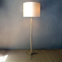 Vintage Italian Wooden Floor Lamp, 1940s for sale at Pamono