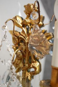 French Candle Wall Sconce, 1950s for sale at Pamono