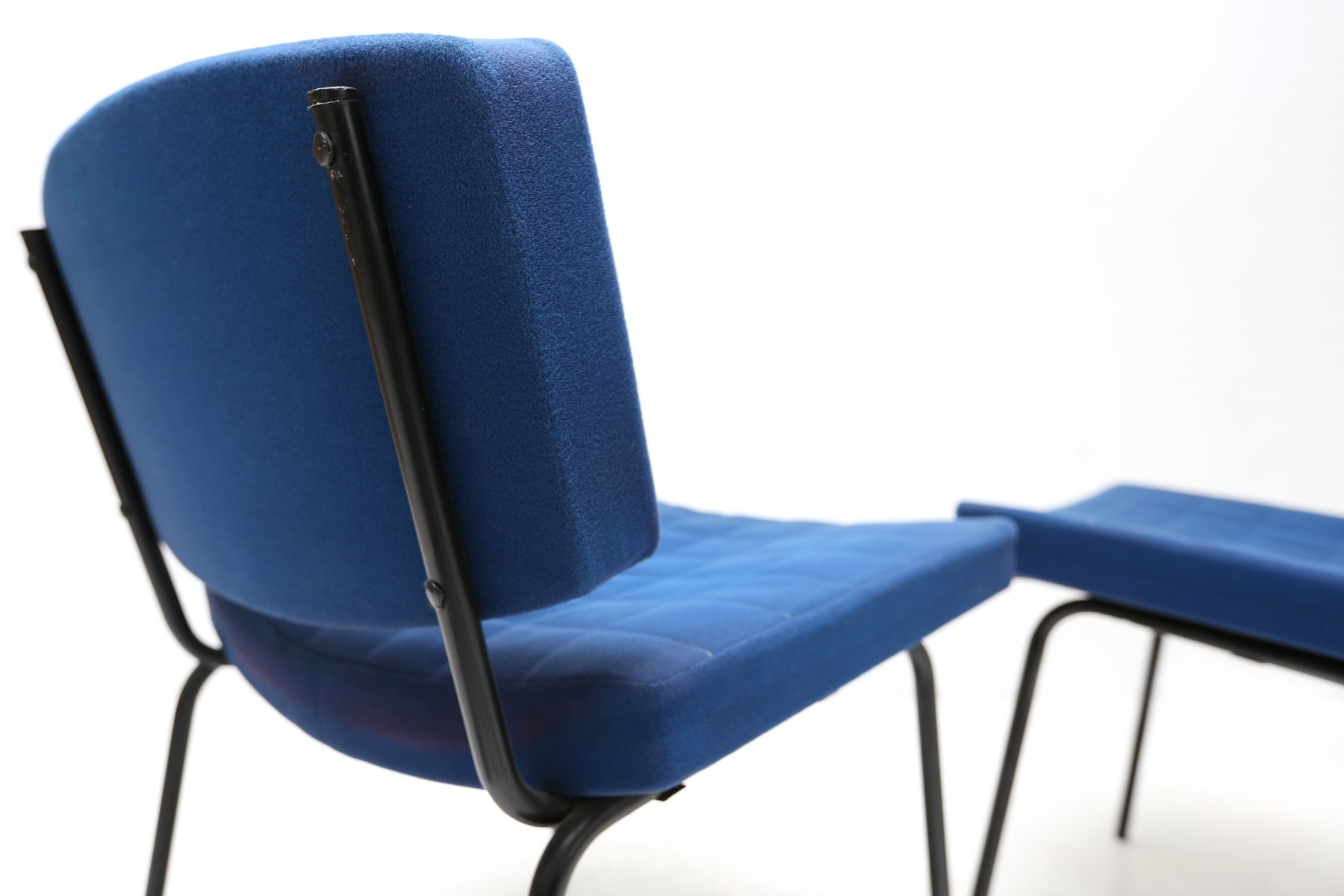 royal blue chairs swivel chair amazon by pierre guariche for meurop 1950s set of 2