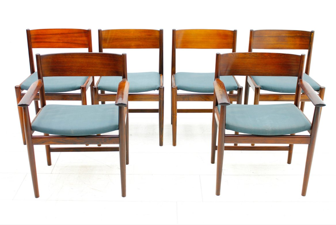Dining Chairs Set Of 6 Rosewood Dining Chairs By Arne Vodder For Sibast Furniture