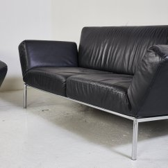Algarve Leather Sofa And Loveseat Set Manhattan Faux Bed Black From Cor For Sale At Pamono
