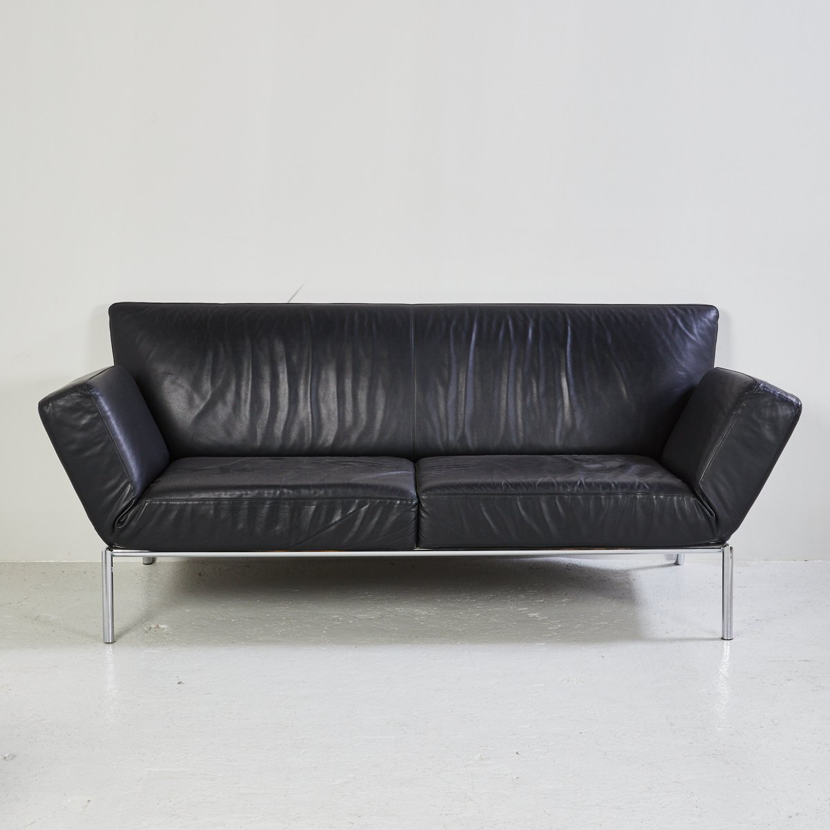 black leather sofa quick delivery diy outdoor pallets set from cor for sale at pamono