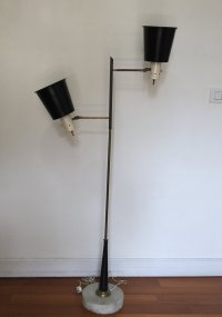 Italian Brass & Stone Floor Lamp from Stilnovo for sale at