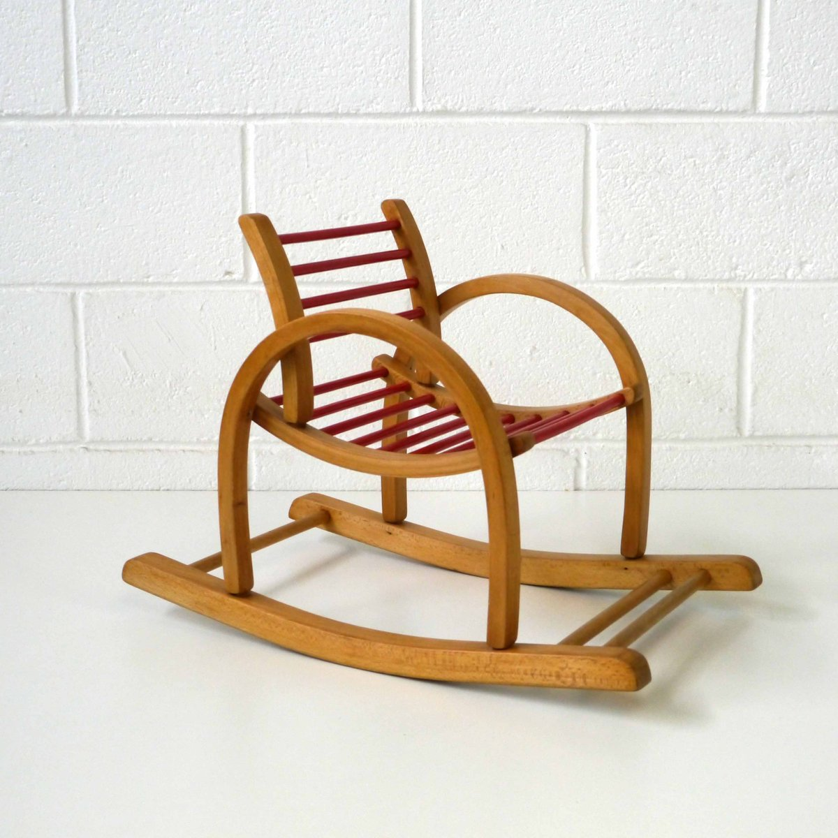 Child Wooden Rocking Chair Vintage Children S Rocking Chair By Baumann