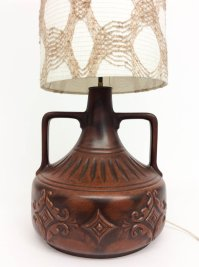 Ceramic Base Floor Lamp, 1970s for sale at Pamono