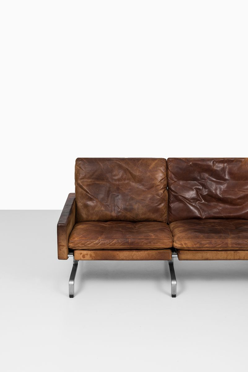2 seater sofa singapore dillards covers pk-31/3 three by poul kjærholm for e. kold ...
