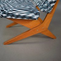 Mid-Century Model FB18 Scissor Lounge Chair by Jan Van ...
