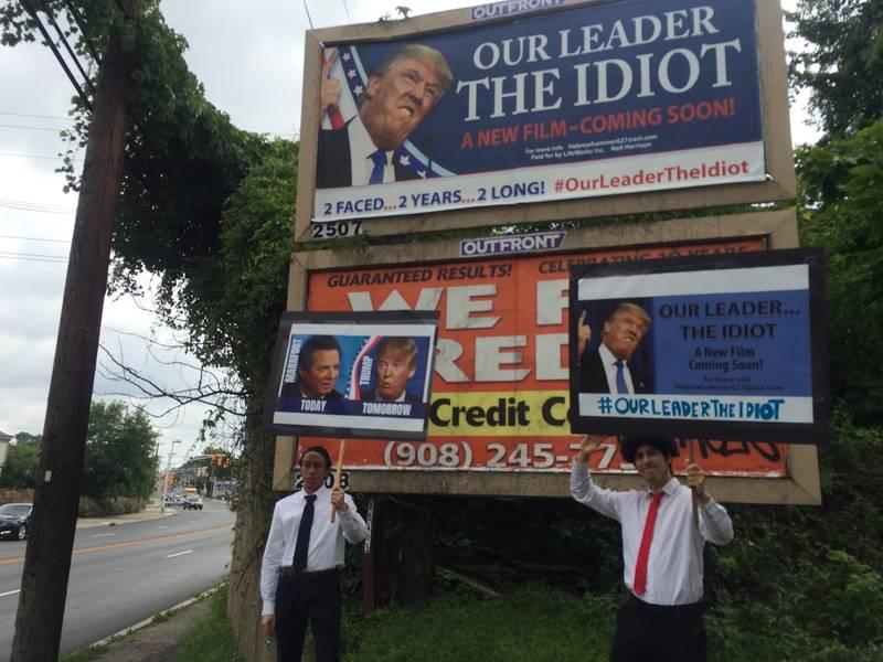 AntiTrump Billboard Erected In Union County  Westfield