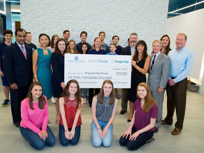 Kingwood High School Presented With 15000 Check  Humble