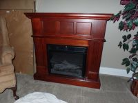 Cherry Wood Electric Fireplace   Doylestown, PA Patch