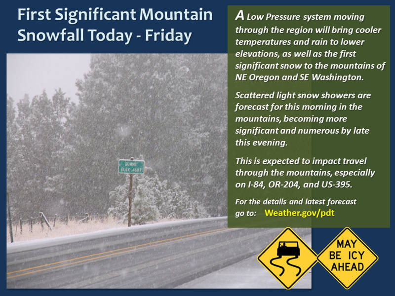 First Significant Snow Will Fall Thursday In Cascades News On - Weather issaquah wa hourly