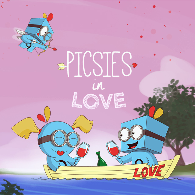 picsies in love on valentine s day [ 1024 x 1024 Pixel ]