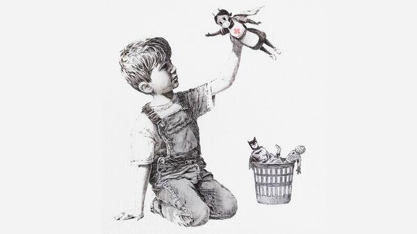 Banksy's new work dedicated to superhero doctors