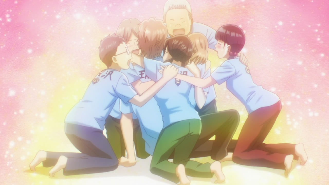 Image result for anime  group hug