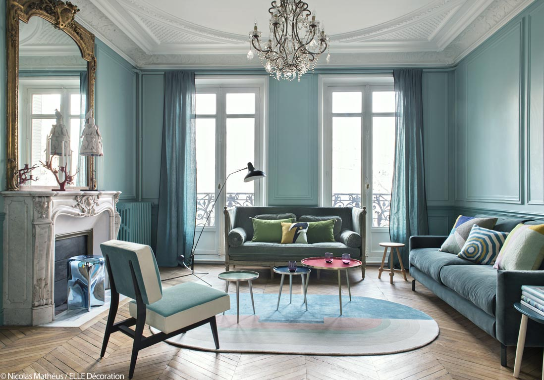 Salon Bleu Turquoise Chocolat