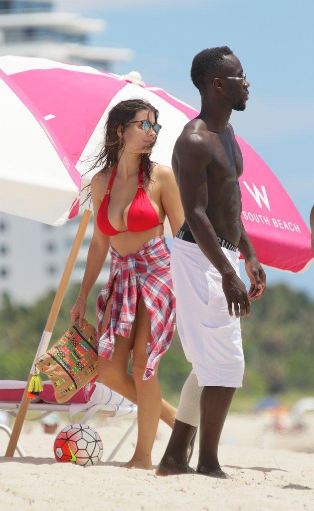 Ludivine et Bacary Sagna à Miami le 14 juillet 2016