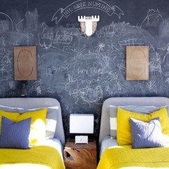 Grey Blue And Yellow Living Room Ideas Pics Contemporary Rooms How To Add A Chalkboard Wall Your Kid's