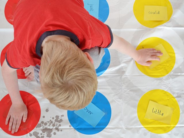 Make Spelling Words Fun with Twister