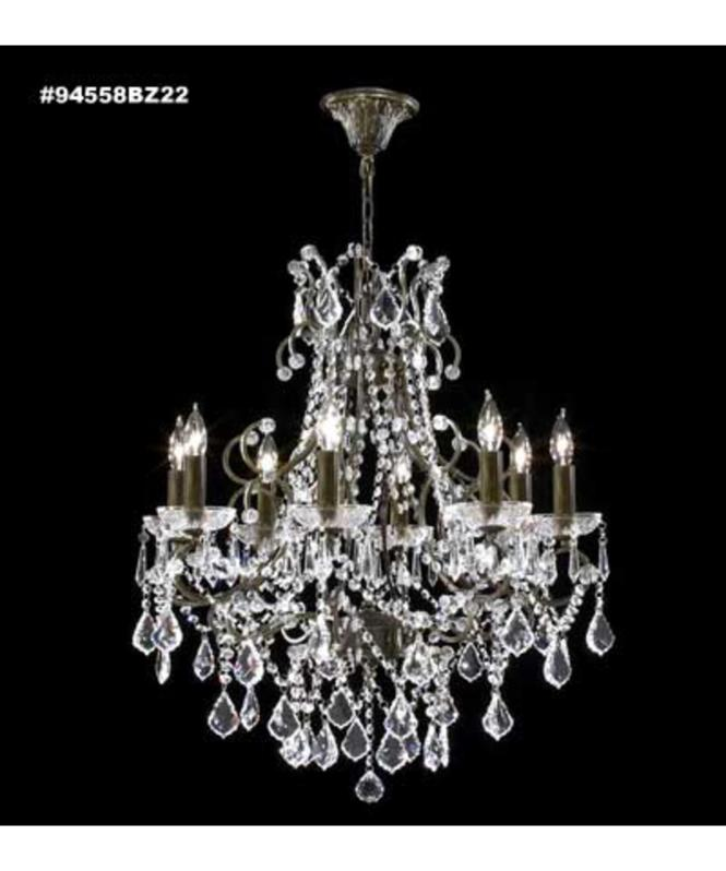 Shown In Antique Bronze Finish And Imperial Crystal